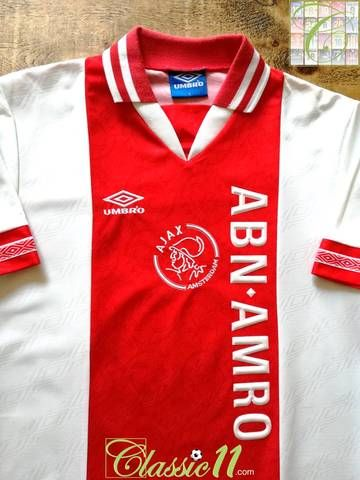 the latest 2decf e89a9 1994/95 Ajax Home Football Shirt (L) | art | Classic ...