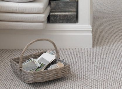 Traditional loop wool, it's a perfect tie between classic and modern. Solana Flooring www.solanaflooring.com