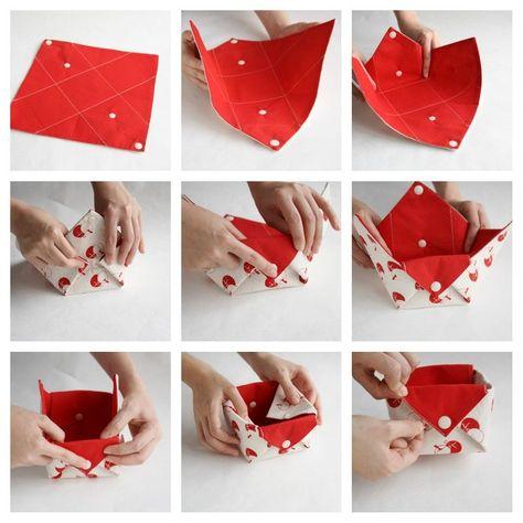 Fabric storage organizer basket Origami box organizer Desk | Etsy