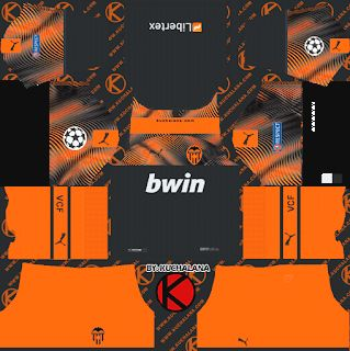 Valencia Cf 2019 2020 Champions League Kit Dream League Soccer Kits Valencia Cf 2019 2020 Champions League K Uniformes De Futbol Camisa De Futbol Uniformes