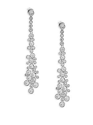 Saks Fifth Avenue Crystal And Sterling Silver Drop Earrings Saksfifthavenue
