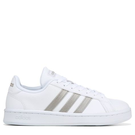 adidas grand court donna white platinum