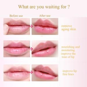 Lip Mask Benefits:  Remove the lip table old cutin cell, make double lip restore smooth, smooth; Strong lock water moisturizing effect, can maintain lips, increase water brightness; Replenish collagen, fill the lips of fine lines, to achieve full, beautification effect;