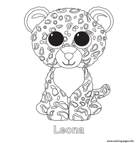 - Print Leona Beanie Boo Coloring Pages Penguin Coloring Pages, Unicorn  Coloring Pages, Beanie Boo Birthdays