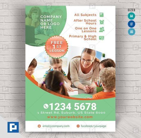 Tutoring and Learning Services Flyer - PSDPixel