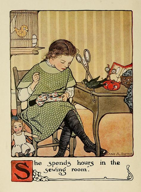 from Mary Frances Sewing Book: Adventures among the thimble people (via Stacey Plassmann, Vintage images)