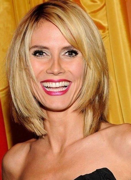 Heidi Klum Bob Frisuren Trendfrisuren2019 Frisurideen Neuefrisur Style Frisur Dicke Haare Bob Frisuren Blond Bob Frisur