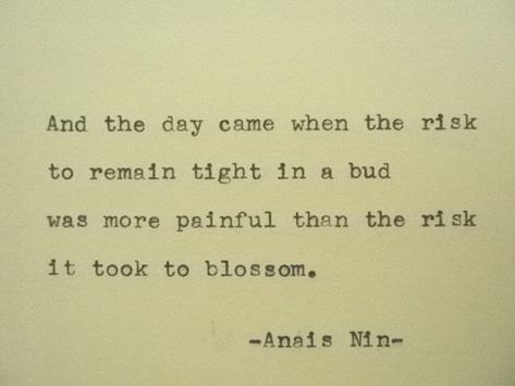 ANAIS NIN Quote Hand Typed Quote Made with by PoetryBoutique