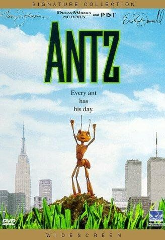 Antz (VHS) Movie Description: Z the worker ant (Woody Allen) strives to reconcile his own individuality with the communal work-ethic of the ant colony.