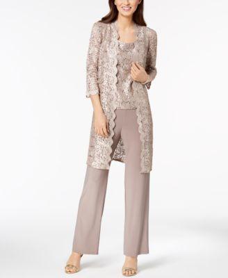 R M Richards Petite Dress Pant Suits