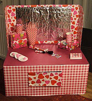 De make-up doos voor het meisje dat al mascara mocht dragen in groep 6
