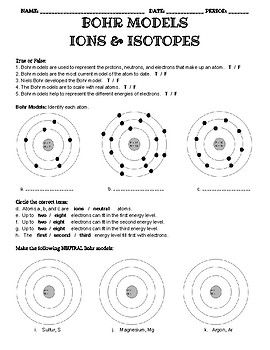 Bohr Model Worksheet Answers : model, worksheet, answers, Model, Practice, Cations,, Anions,, Isotopes, Model,, Atomic, Structure,, Graphing, Quadratics