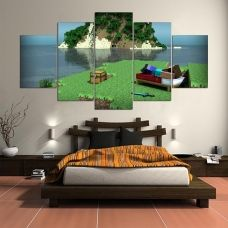 Modern Hd Printed Wall Art Frame Canvas Pictures 5 Pieces