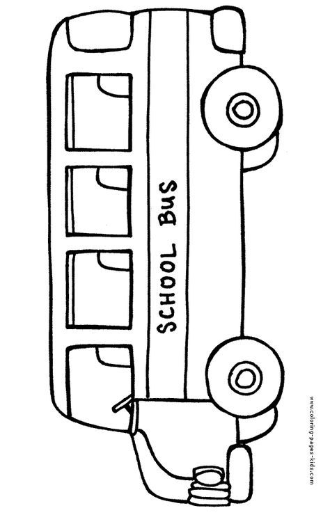 School Bus Color Page Transportation Coloring Pages Color Plate