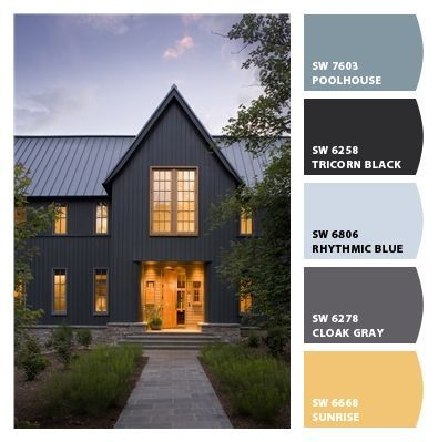 Image Result For Sherwin Williams Tricorn Black Gray House