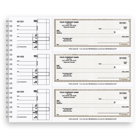 Expense Wire | Dfc 122 Wire Bound General Expense Checks Manual Checks