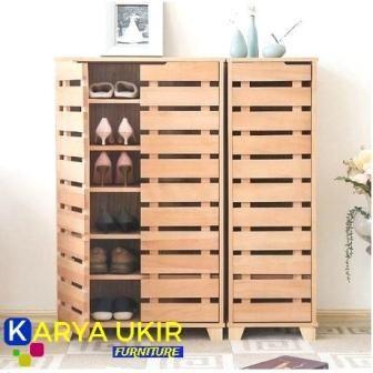 Tempat Sepatu Dari Kayu Shelves Minimalis Indofurnia Pembuatan Lemari Kayu Kayu Solid