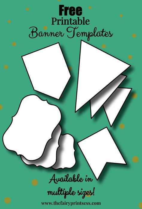 Free Printable Banner Templates Blank Banners For Diy