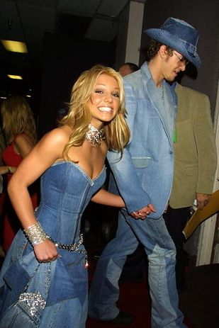 Britney Spears and Justin Timberlake circa matching denim outfits, tho!
