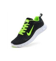 Nouveau nike free 5.0 homme courir chaussure noir vert Soldes-20