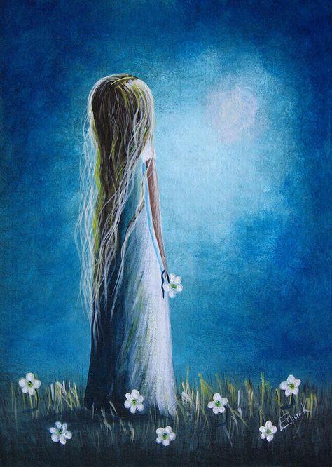 Hello Beautiful by Shawna Erback Painting  - Hello Beautiful by Shawna Erback Fine Art Print