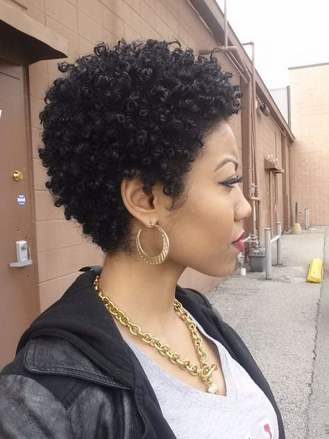 22 Cute Curly And Natural Short Hairstyles For Black Women Short Natural Haircuts Natural Hair Styles Hair Styles