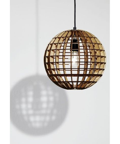 Plywood Globe Lamp Designed By Mow Design Made In United