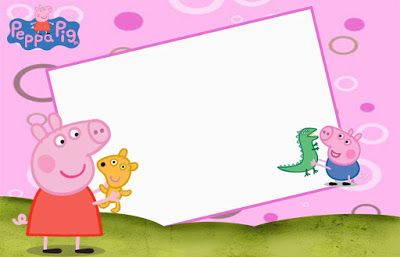 photograph regarding Peppa Pig Printable Invitations named Peppa Pig and Family members, No cost Printable Invites, Labels or