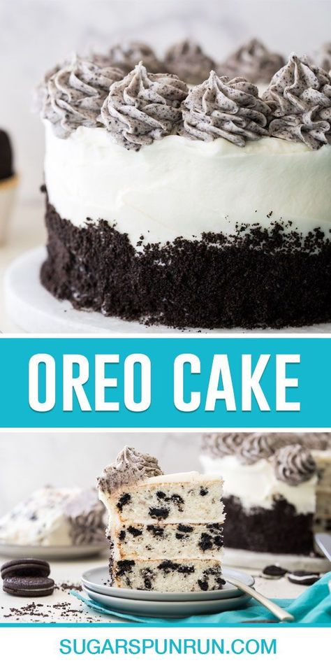 Cookies N Cream Cake Recipe, Cookies And Cream Frosting, Oreo Frosting, Cake Cookies, Cupcake Cakes, Oreo Cookie Cakes, Easy Oreo Cake Recipe, Oreo Cupcakes, Baby Cakes