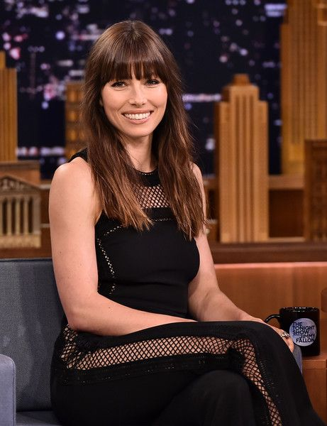 Jessica Biel visits 'The Tonight Show Starring Jimmy Fallon' at Rockefeller Center.