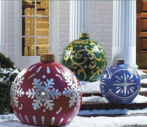 Décoration de Noël extérieure- idées porte d\'entrée et jardin ...