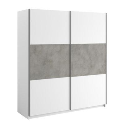 Armoire 2 Portes Coulissantes 180 Cm Verona Coloris Blanc Conforama En 2020 Armoire 2 Portes Porte Coulissante Armoire
