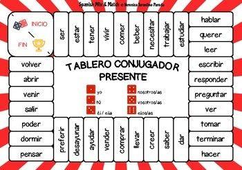 10 Juegos De Mesa Gramaticales Conjugación Y Tiempos Verbales En Español Learning Spanish Spanish Middle School Spanish