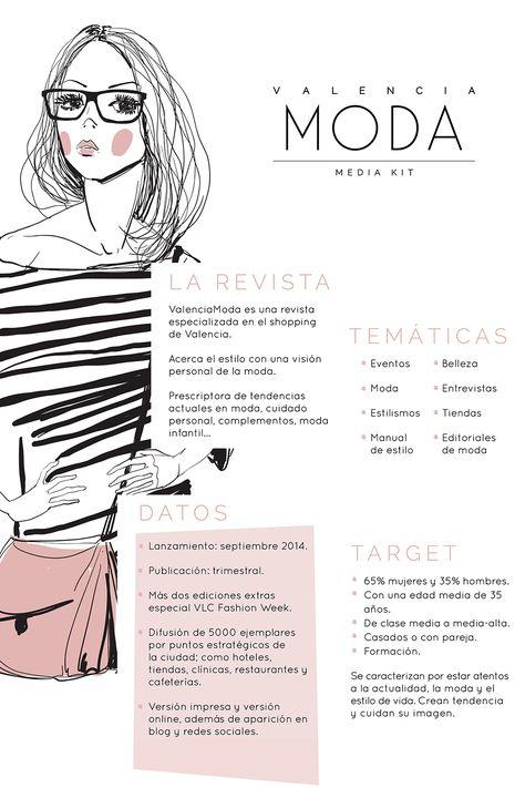Folleto del media kit para la revista ValenciaModa creado por la agencia…