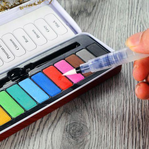 Amazon.com: Water Brush Pen Set Xpassion Artist Paint Bruh Pen 3pcs - A great craft room staple!