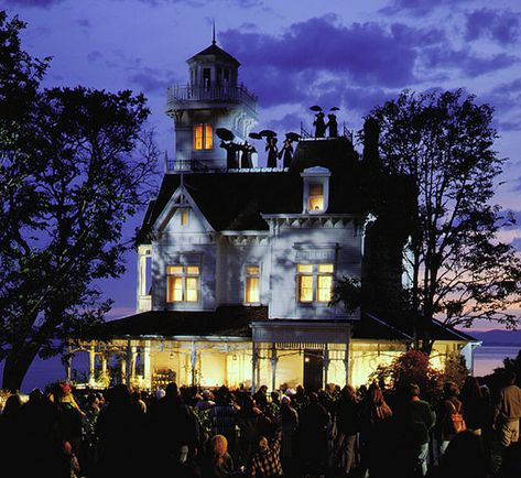 Exterior shot of the house from the movie Practical Magic.  Witches on the roof :)