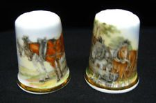 Set of Three Star Trek Original Porcelain China Collectable Thimbles