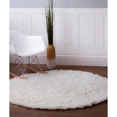 Wrought Studio Stonecipher Handmade White Area Rug Rug Size