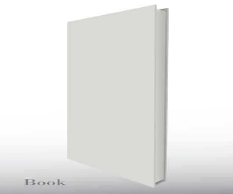 Blank Empty 3d Book Cover Free Vector Template Free Vectors - free blank tri fold brochure templates