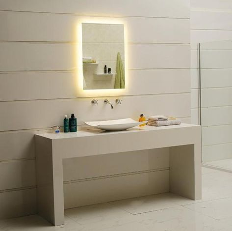 Led Lichtspiegel Kostan Grosse 40x60 Cm Badezimmer Badspiegel
