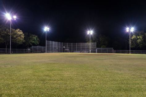 Does an empty baseball field really need outdoor lighting all night?
