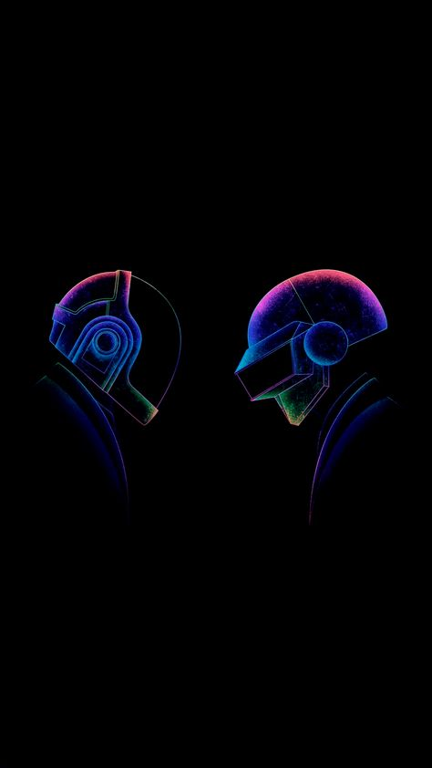 Daft Punk (x-post from r/AmoledBackgrounds)