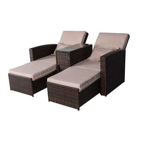 Outdoor Rattan Wicker Chaise Lounge
