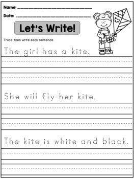 Spring Handwriting Practice Kindergarten 1st Grade With