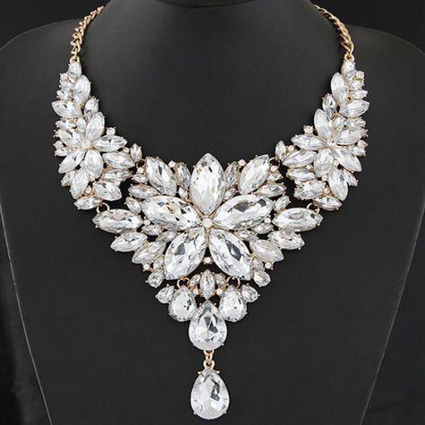 51d089592 Výrazný náhrdelník z kamínků - 6 barev 6 | Svatba in 2019 | Jewelry ...
