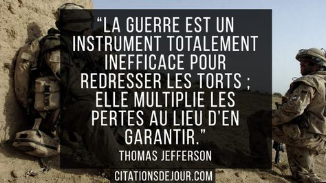 citation de Thomas Jefferson sur la guerre