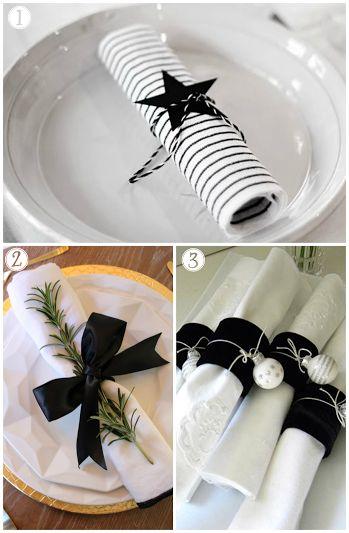 10 maneras de decorar servilletas en Navidad