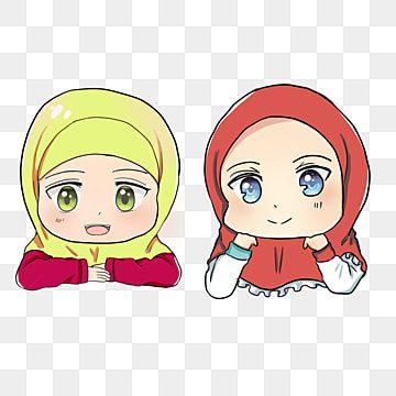 Anak Sekolah Cewek Berdua Gambar Anak Muslim Muslim Lucu Chibi Muslim Png Transparent Clipart Image And Psd File For Free Download In 2020 Chibi Cartoons Png Chibi Characters
