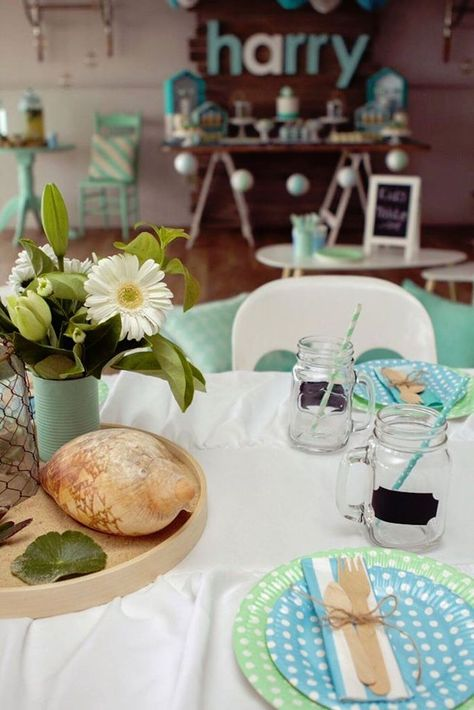 Have A Ball With This Picturesque Beach Themed Party