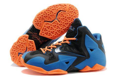 Nike LeBron 11 Elite Superhero Royal Metallic Orange  cd8c719ca
